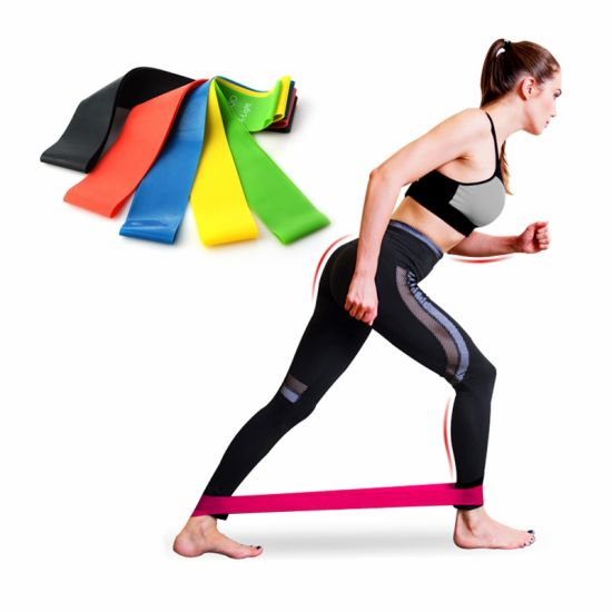 Resistance Bands Loop Set Exercise Sports Fitness Home Gym Yoga Latex US
