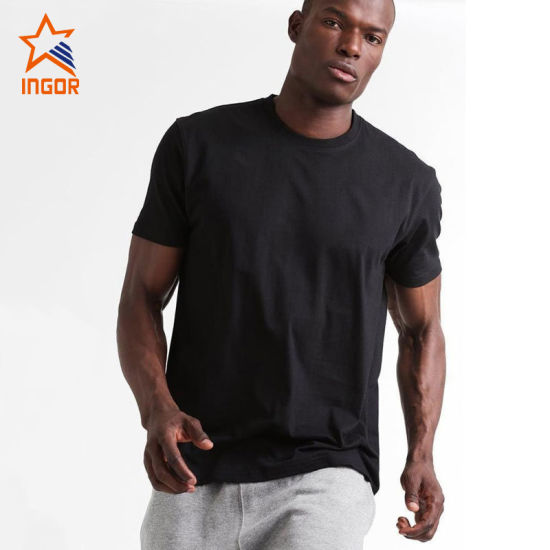 Men Plain T Shirts Suitable for Sports and Fitness Black T Shirts