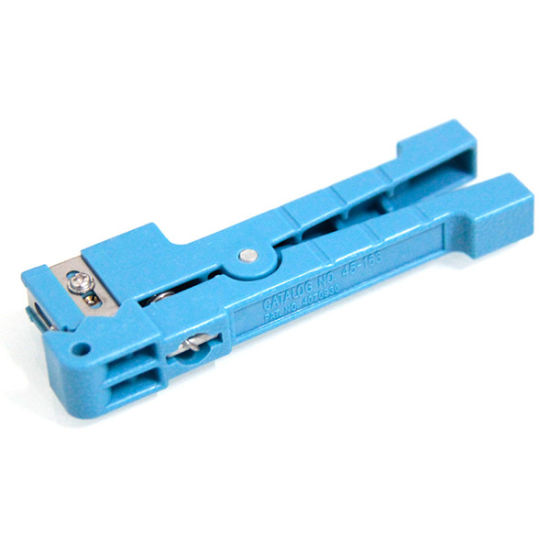 Blue 45-163 Fiber Optic Jacket Stripper Coaxial Cable Cutter Stripping Tools