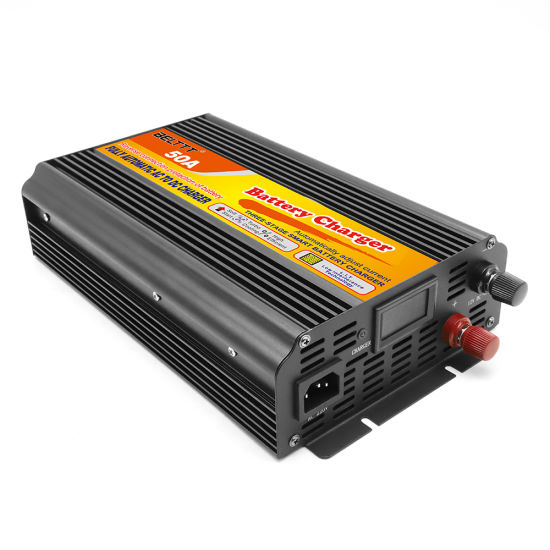 High Efficiency Automatically Adjust Current 12V 50A Car Battery Charger
