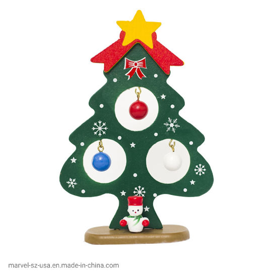 Christmas Tree Small Ornament Home Decor Christmas Wooden Card Decorations