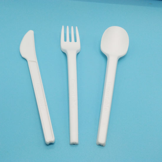 100% Compostable 7in Forks Spoons Knives Cutlery Combo Set /Disposable Utensils pictures & photos