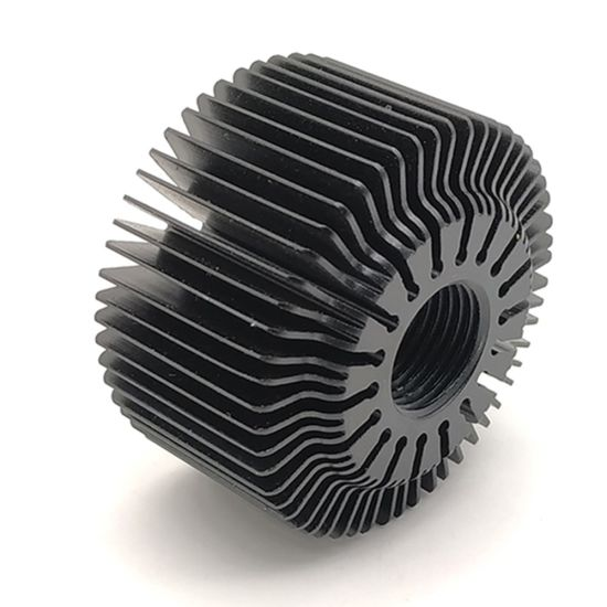 Dongguan Custom Aluminum Alloy Circular/Cylindrical/Round Heat Sink pictures & photos