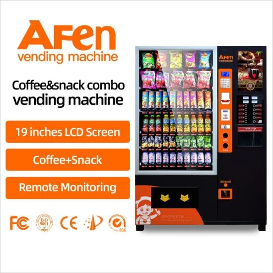 Afen Snack and Drink Beverage Combo Coffee Vending Machine