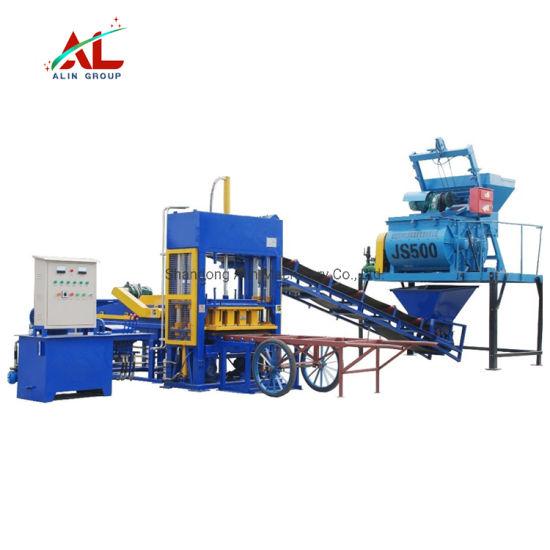 Alin Brand China Qt5-15 Hydraulic Pressure Concrete Hollow Block Making Forming Machine