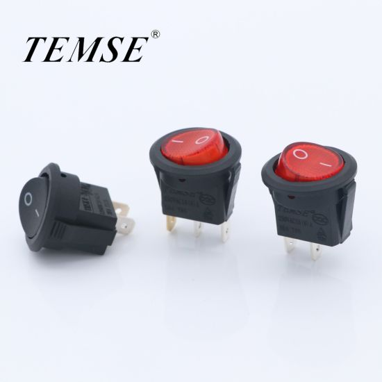 Red-Light-Round-Rocker-Switch on-off Control 16A for Car Boat Truck