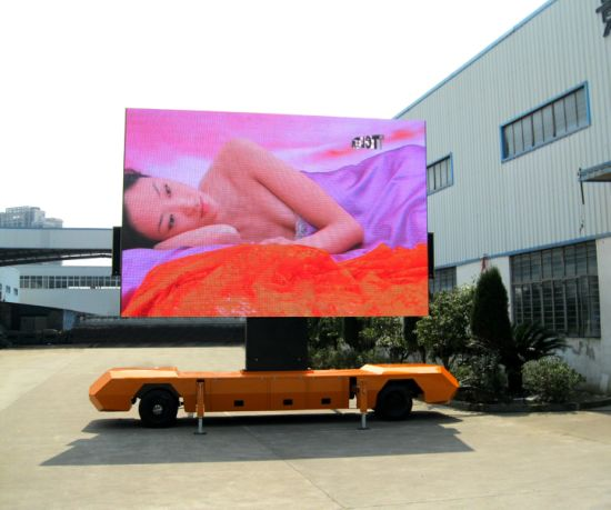 P6 P10 Outdoor Rental Full Color LED Advertising Display Board for Trailer