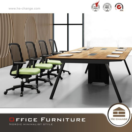 Modern Conference Table Commercial Steel Office Furniture (HC-Karen) pictures & photos