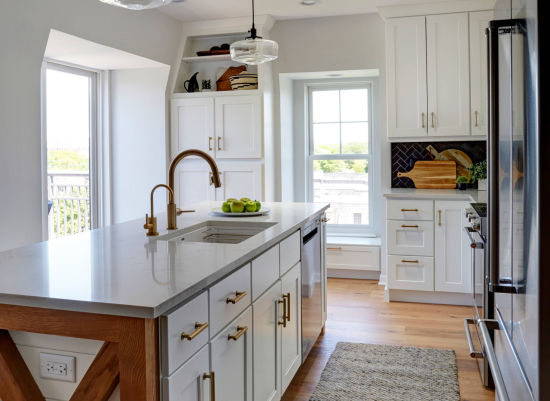 China Hot Selling Modern Apartment Pastel White Shaker Kitchen Pantry Cabinet China Kitchen Cabinetry Kitchen Furniture