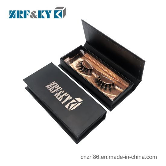 Custom Empty Mink Cosmetic Container Clear Eyelash Packaging Box pictures & photos