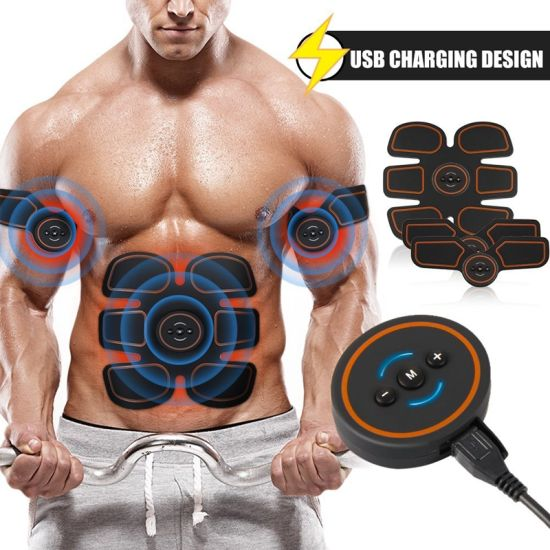Rechargeable ABS Stimulator, Portable Wireless Muscle Trainer for Men Women, 6 Modes with 10 Levels Intelligent pictures & photos