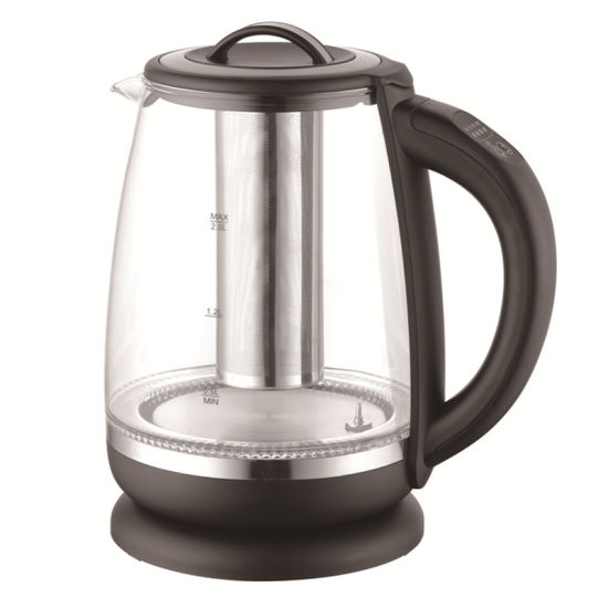2 Liter 2200W Keep Warm Electric Glass Kettle with Tea Filter