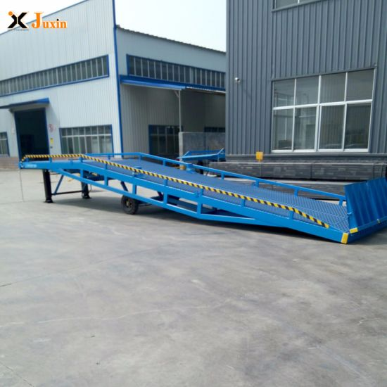 South Korea Adjustable Loading Dock Ramp, Mobile Container Load Ramp with Cheap Price for Sale