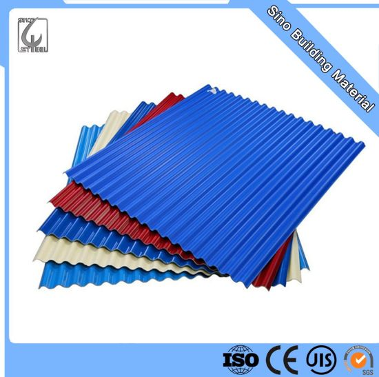 0.12*665mm G350 ASTM653m Factory Best Price Flower Pattern Design Prime Lower Price Colorful Roofing Sheet for Greenhouse in China pictures & photos