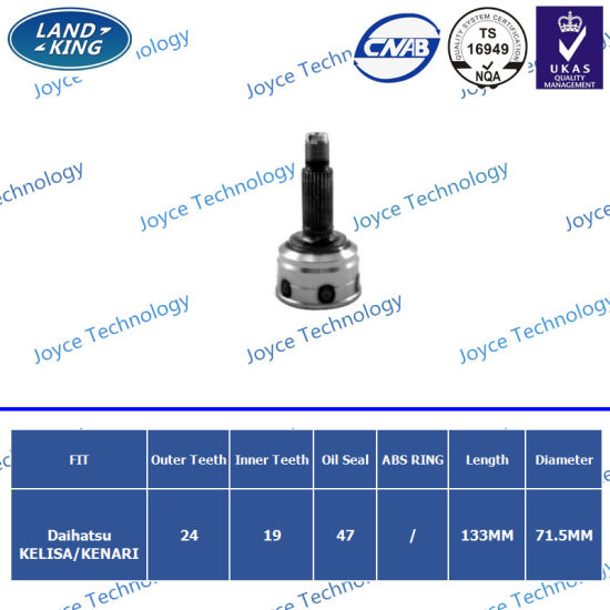 Heated CV Joint Auto Components Good Quality for Daihatsu pictures & photos