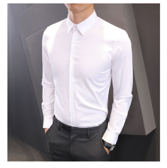 Latest Designs 100% Cotton Fabric Formal Shirt Custom Dress Tuxedo Men's Custom Shirts for Summer