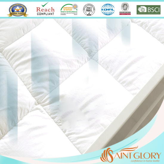 Quilted Fitted Mattress Cover with Elastic Skirt pictures & photos