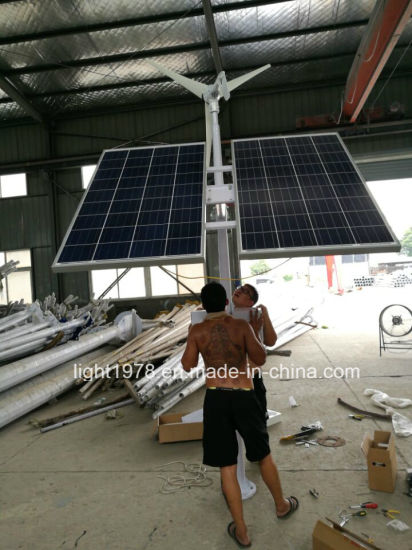 9m LED Wind Plus Solar Hybrid Street LED Light pictures & photos
