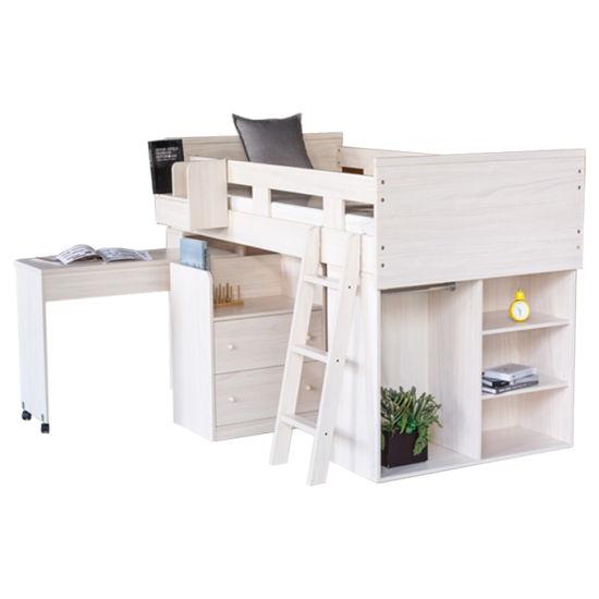 Eco-Friendly Material House Kids Children Bedroom Furniture Bunk Beds