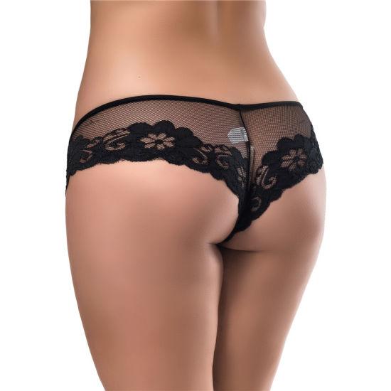 Hot Sale Black Lace Sexy Underwear Briefs