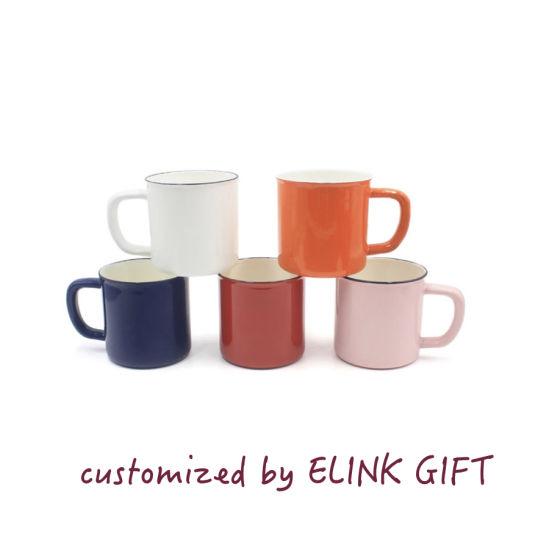 Enamel China Tea Printing Coffee Drinking Mugs Cups Customized bf7gy6