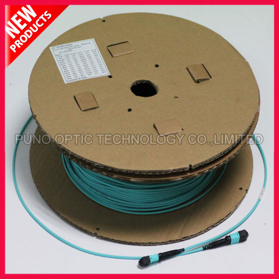 100Gig 24 Cores MPO to MPO OM3 Optical Cable pictures & photos