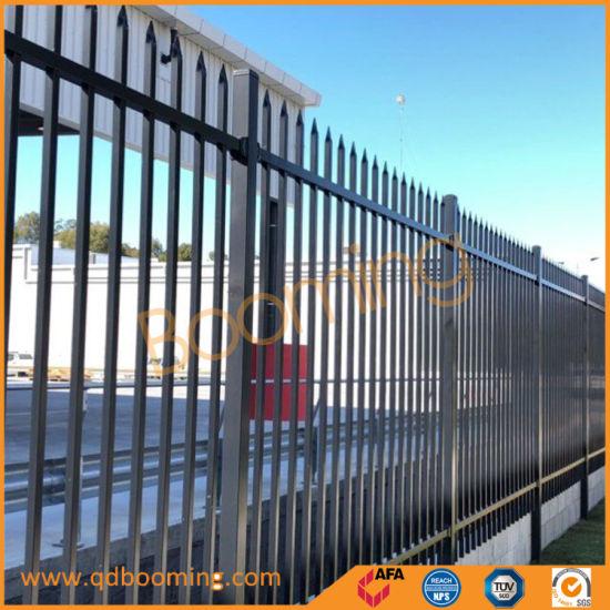 Black Flat Top with Plastic Cap Garden Fence Panel