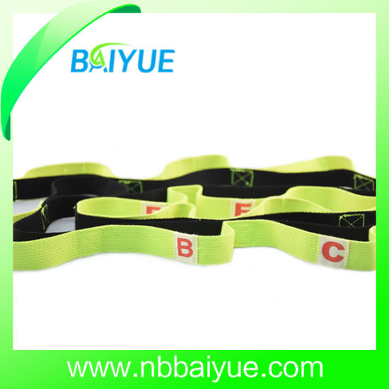 Body Building Yoga Stretch Strap with Loops