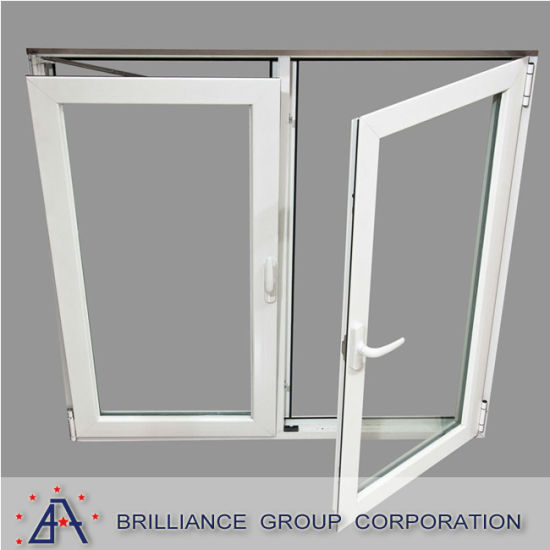 China Air Tight Double Glass White Aluminum Frame Interior Double