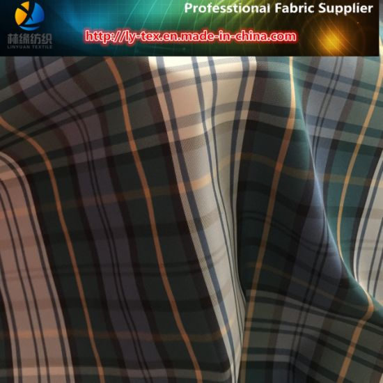Twill Polyester Yarn Dyed Plaid Fabric for Jackets, (LY-YD1056) pictures & photos