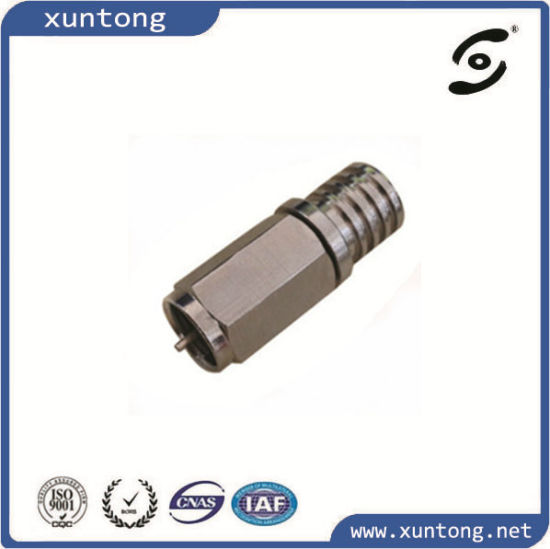 Waterproof Coaxial Cable F Connector Brass Electronic Connector