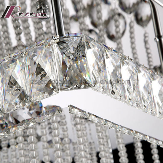 Modern Simple Square Crystal Ceiling Lamp for Living Room pictures & photos
