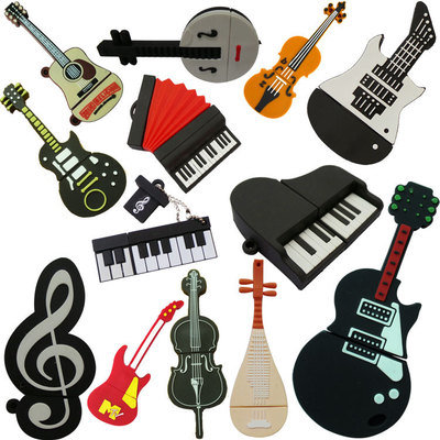 Silicone Guitar USB Flash Drive USB Disk Pen Drive pictures & photos