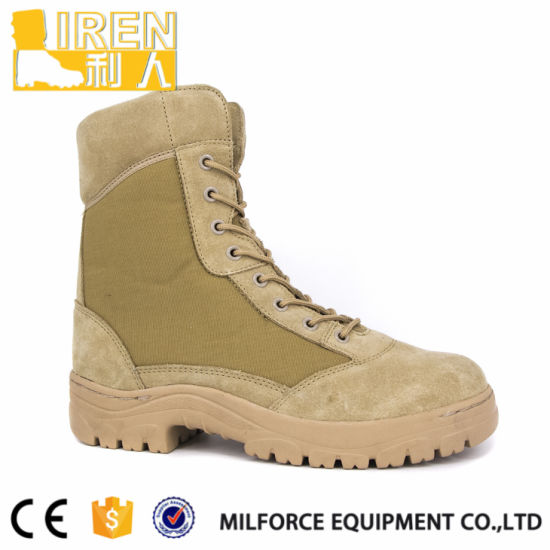 2017 New Fashion Suede Cow Leather Mens Safety Shoes Military Tactical Desert Boot pictures & photos
