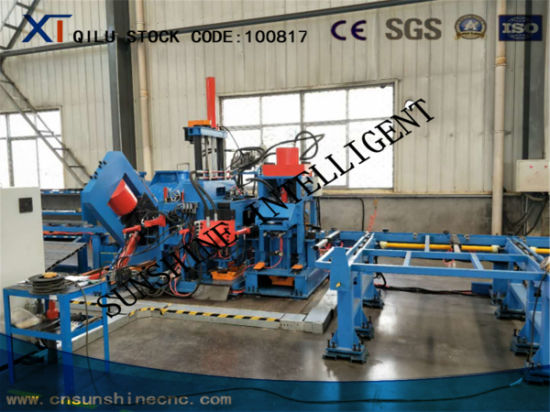 High Speed CNC Angle Channel Band Steel Punching Shearing Marking Machine