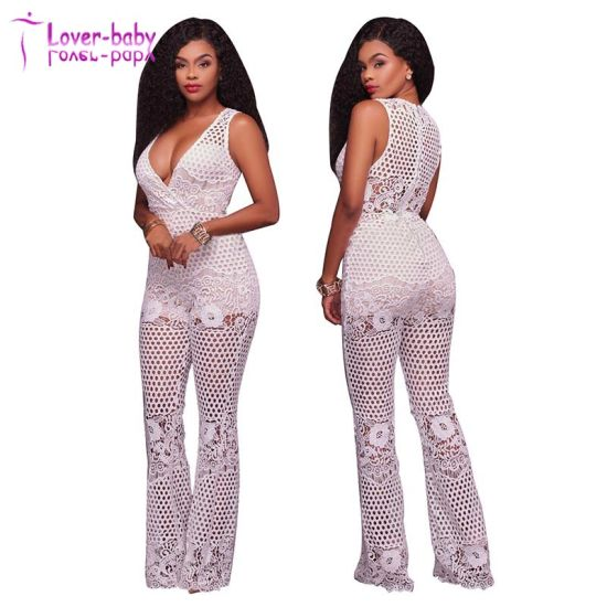 dd5284395b80 China Donovan Lime Lace Top Strapless Romper Lady Jumpsuit Clothes ...