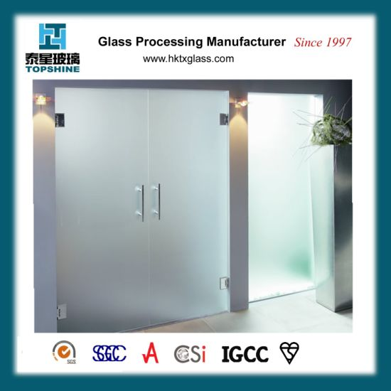 China Frosted Acid Etched Glass Doors And Window Repair Glass Doors