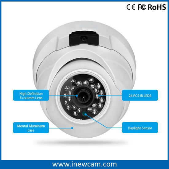 Outdoor IP66 4MP H. 264 Poe Dome IP Camera pictures & photos