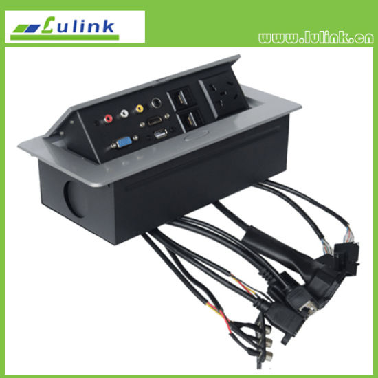 China Tabletop Connection Box For Conference Table Multimedia - Multimedia conference table