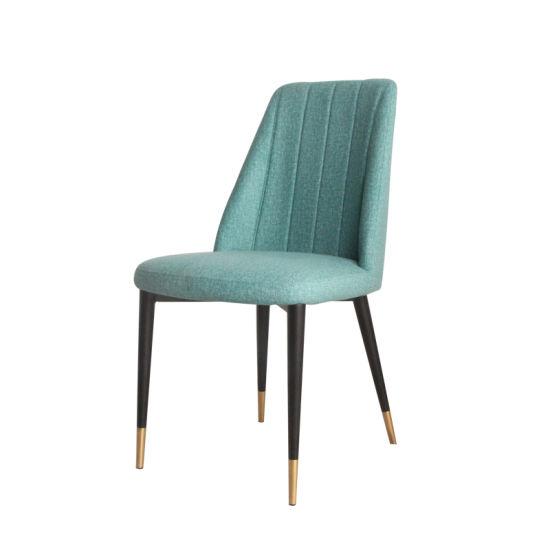 Luxury Modern Fabric Metal Dining Chair