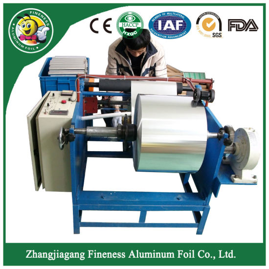 Customized Hot Sell Aluminum Kitchen Roll Rewinding Machine pictures & photos