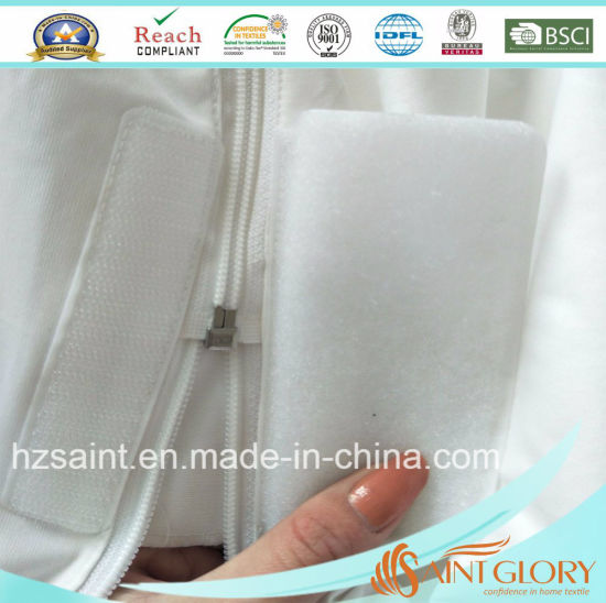 Twin Size Completely Surrounds Zippered Mattress Protector pictures & photos