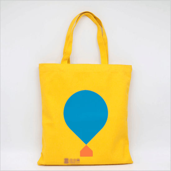 af7c0bc5e Promotional Colored 100% Cotton Canvas Shopping Tote Bag with Customized  Logo Printing