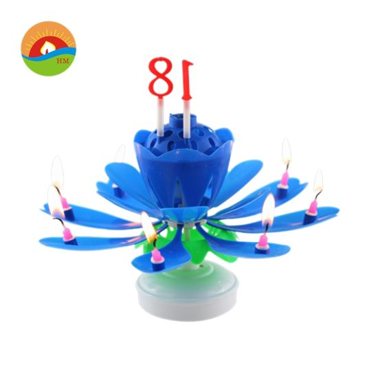 Top Seller Firework Double Layer Magic Play Music Birthday Candles
