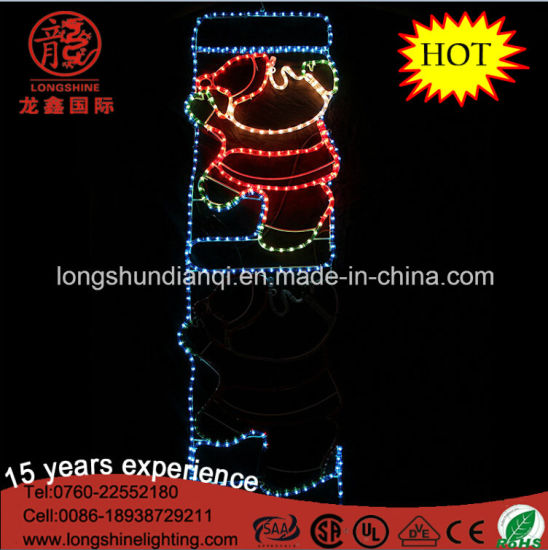 LED Christmas Santa Claus on Ladder Rope Motif Lights Christmas Lights for Yard Decoration pictures & photos