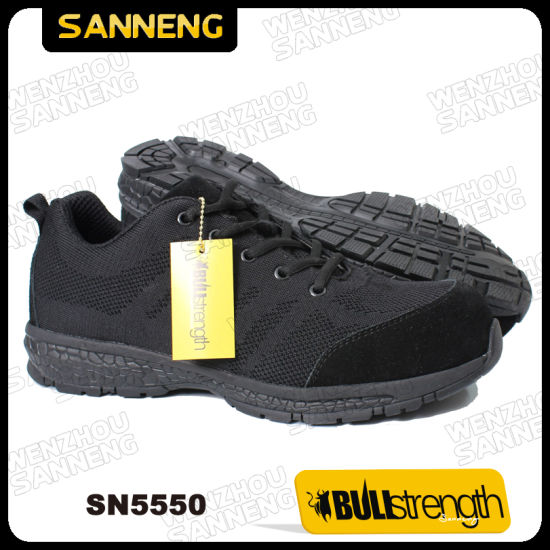 Black Kpu Trainer Safety Shoes with S1p Src pictures & photos