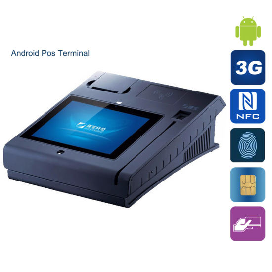 Multi-Touch Screen Android Fast Food Restaurant POS Terminal