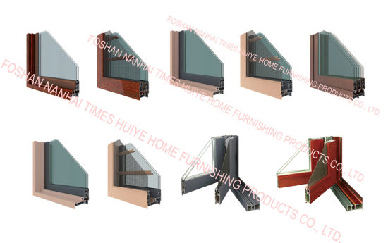 Aluminum Security Window with Double Glazing and Gauze pictures & photos