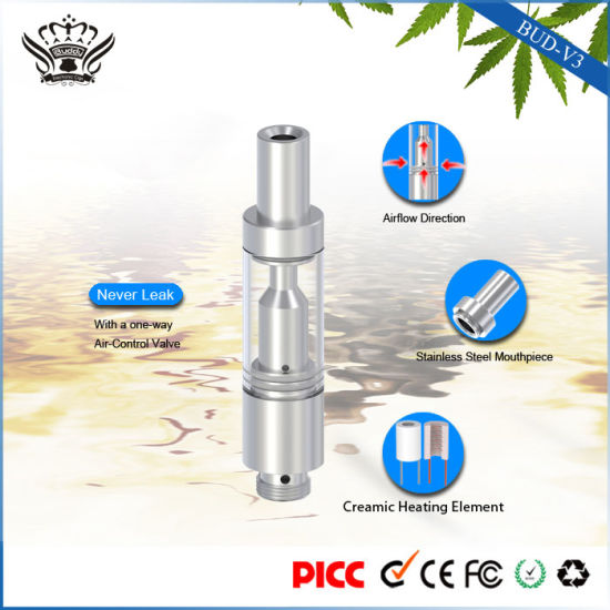 V3 0.5ml Glass Cartridge Ceramic Heating E Liquid Vape Pen pictures & photos