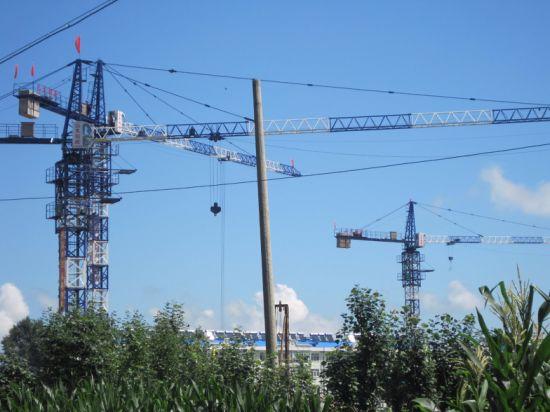 Self-Erecting Top-Slewing Hammer Head Construction Tower Crane Model: Qtz125 (TC6515) -Max. Load: 10t